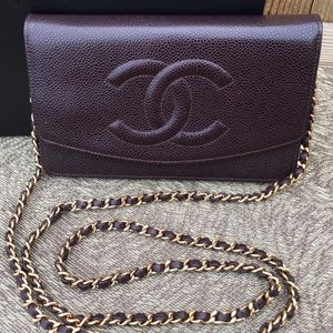 Chanel Timeless Wallet on Chain - Authentic